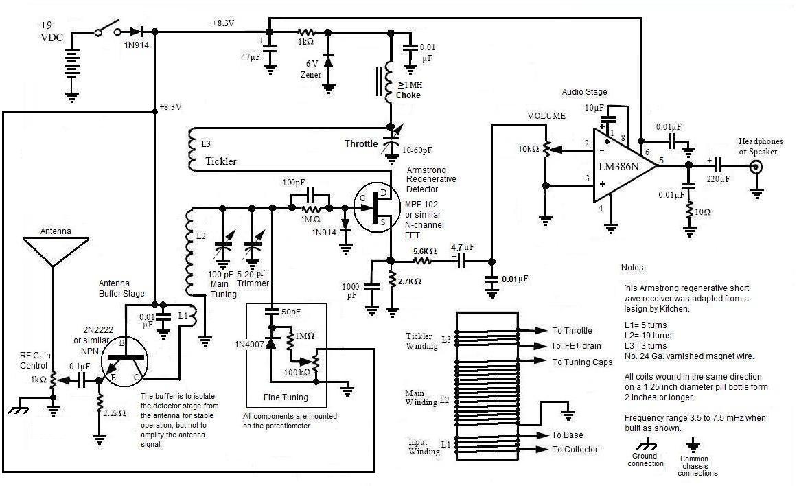 How I Built A Shortwave Armstrong Fet Regenerative Receiver Simple Crystal Radio Schematic Free Image About Wiring Diagram And Link To Of The Short Wave With Audio Ic In Standard Configuration