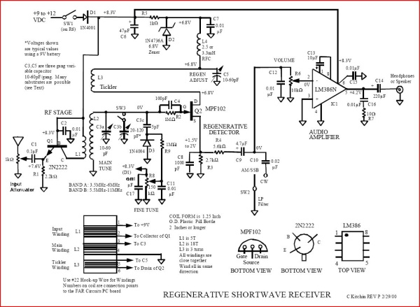 How I Built A Shortwave Armstrong Fet Regenerative Receiver. Charles Kitchen's Fet Armstrong Radio From The Original Article. Wiring. Regenerative Radio Receiver Schematics Using J310 At Scoala.co